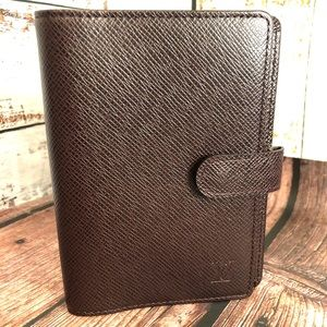 Louis Vuitton Taiga leather Planner Agenda PM NEW